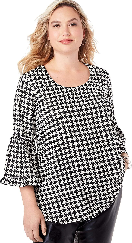 Jessica London Women's Plus Size Georgette Flare Blouse Shirt