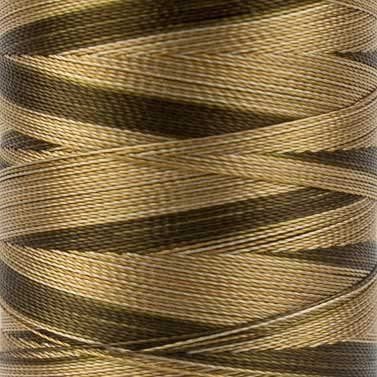 WonderFil Specialty Threads Mirage, 800m, Beige Brown, 2-ply Random Dyed Multi-Coloured Rayon. 30wt