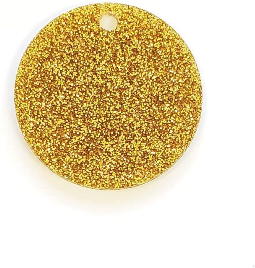 Set of 25 Units - Acrylic Disc - for Keychains or Jewelry 1/8