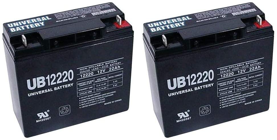 Universal Power Group 12V 22Ah Battery for MobilePower The Beast 15-in-1 Jump Starter - 2 Pack