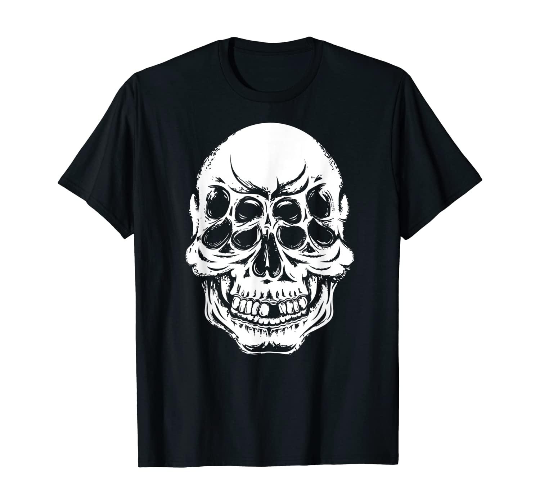 Satan Skull Evil Devil Occult Satanic Pentagram Baphomet T-Shirt