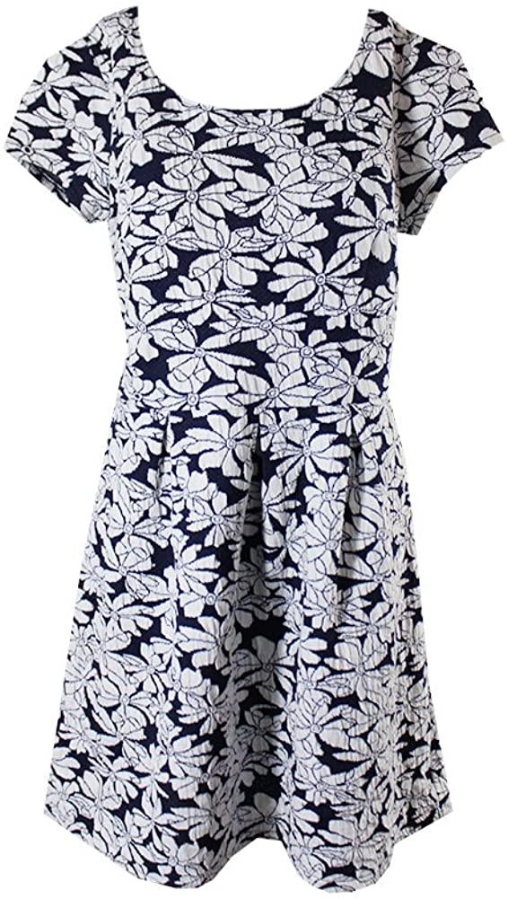 Maison Jules Womens Floral Shift Dress