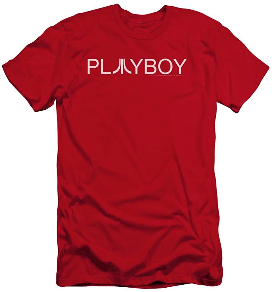 Atari Premium Canvas T-Shirt Playboy Logo Red Tee