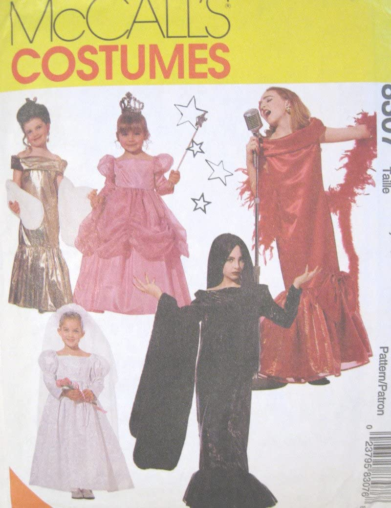 Childs Girls Glamour Costume Sewing Pattern McCall 8307 (5-6)