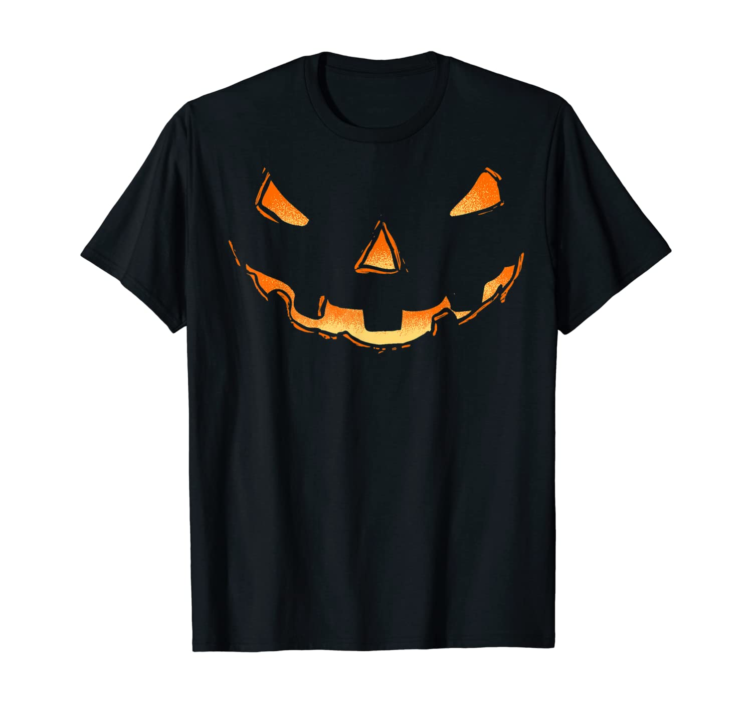 Jack O Lantern Halloween Pumpkin Face Costume Shirt Women T-Shirt