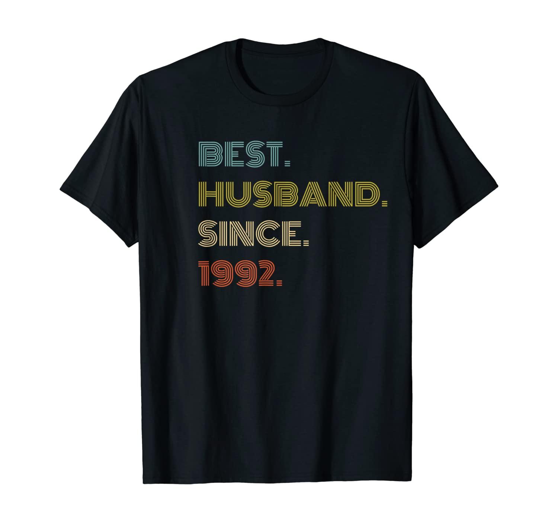 Mens 28th Wedding Anniversary Gift Best Husband Since 1992 T-Shirt