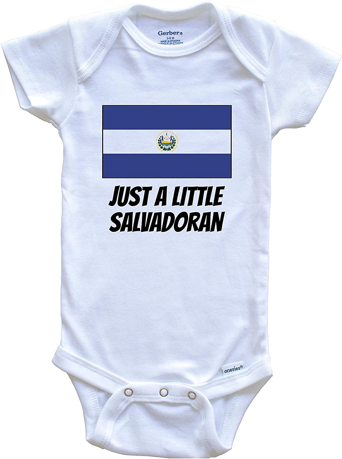 Really Awesome Shirts Just A Little Salvadoran Cute El Salvador Flag Baby Onesie