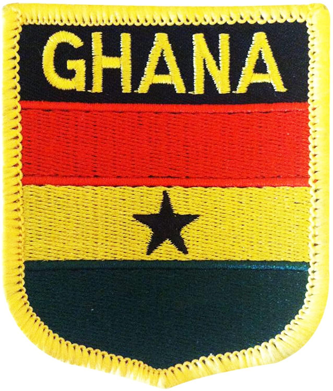 Ghana Flag Patch/African Iron On Tactical Shield (Ghana Crest, 2.75 x 2.35)