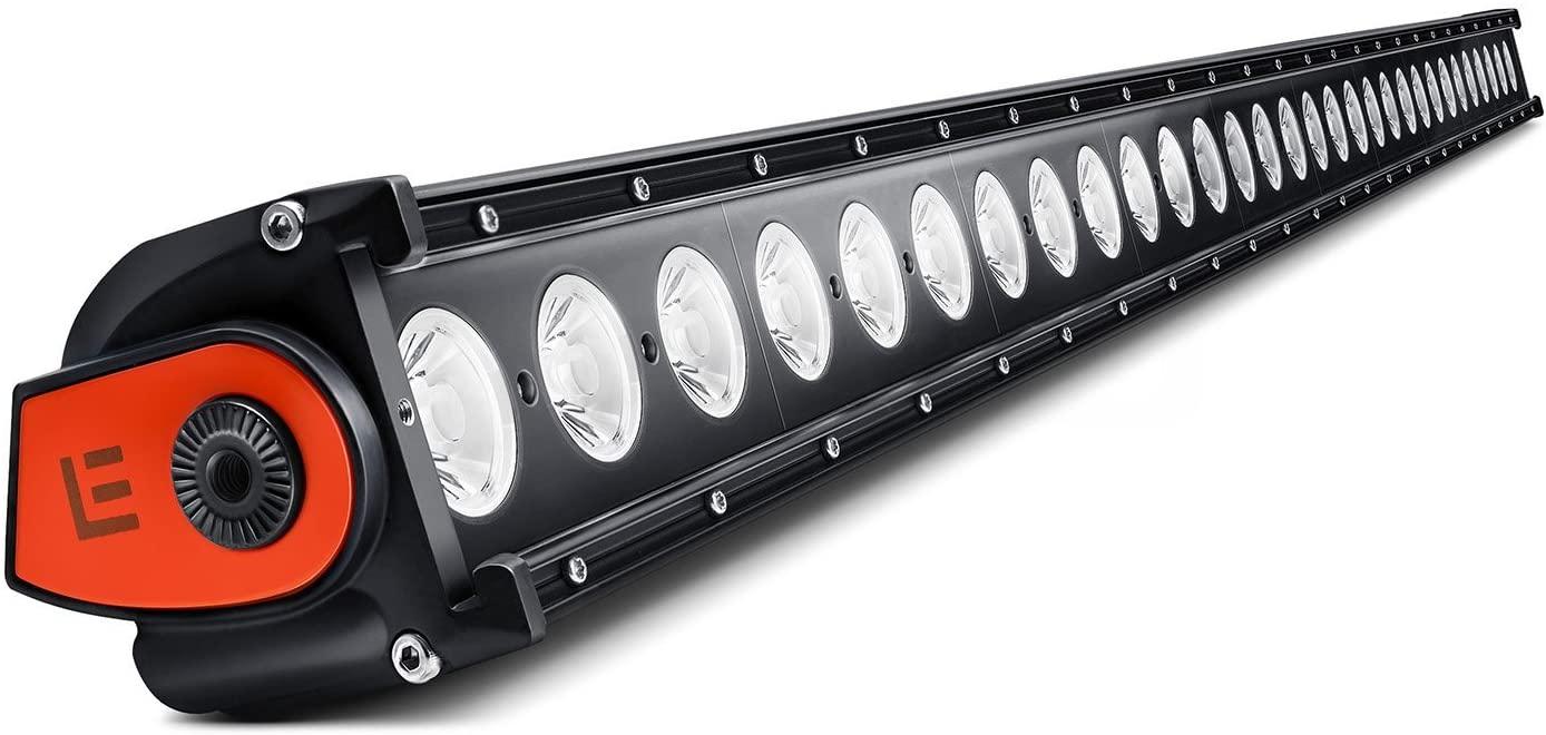 Lumen Single Row LED Light Bar - 50in 300W Spot Beam Bar with Illuminated End Caps