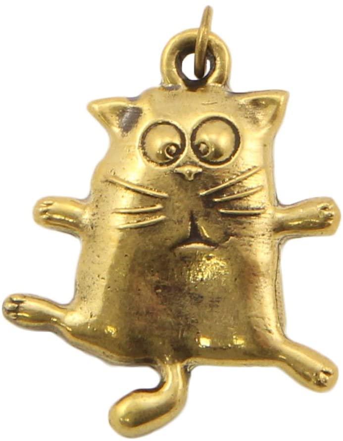 Cat Ballerina Bronze Pendant Handmade Souvenir Keychain
