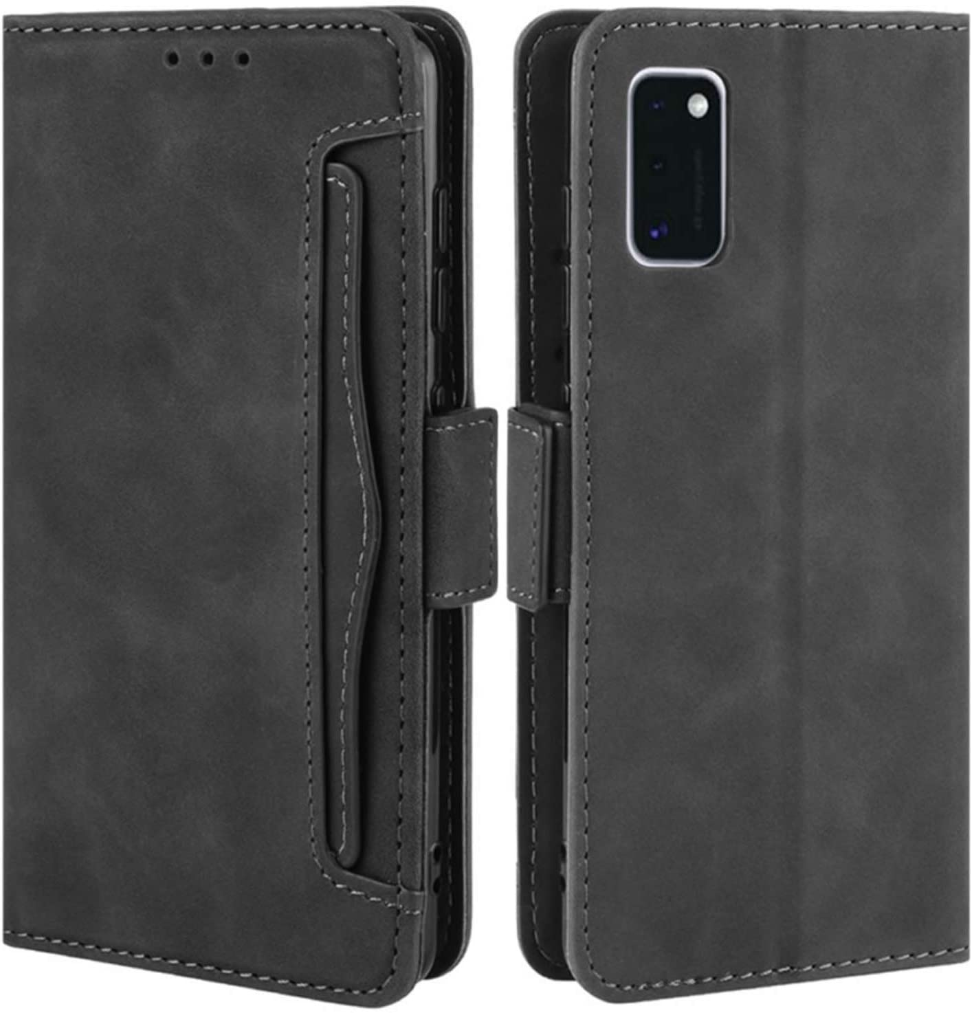HualuBro Samsung Galaxy A31 Case, Magnetic Full Body Protection Shockproof Flip Leather Wallet Case Cover with Card Slot Holder for Samsung Galaxy A31 Phone Case (Black)