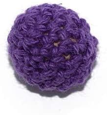 Crochet Bead 16 mm Violet x5