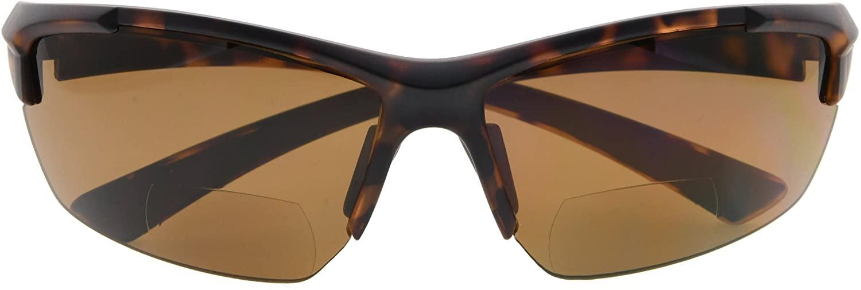 BFOCO Sports Half-Rim Bifocal Sunglasses Anti-UV Sunglasses for Readers