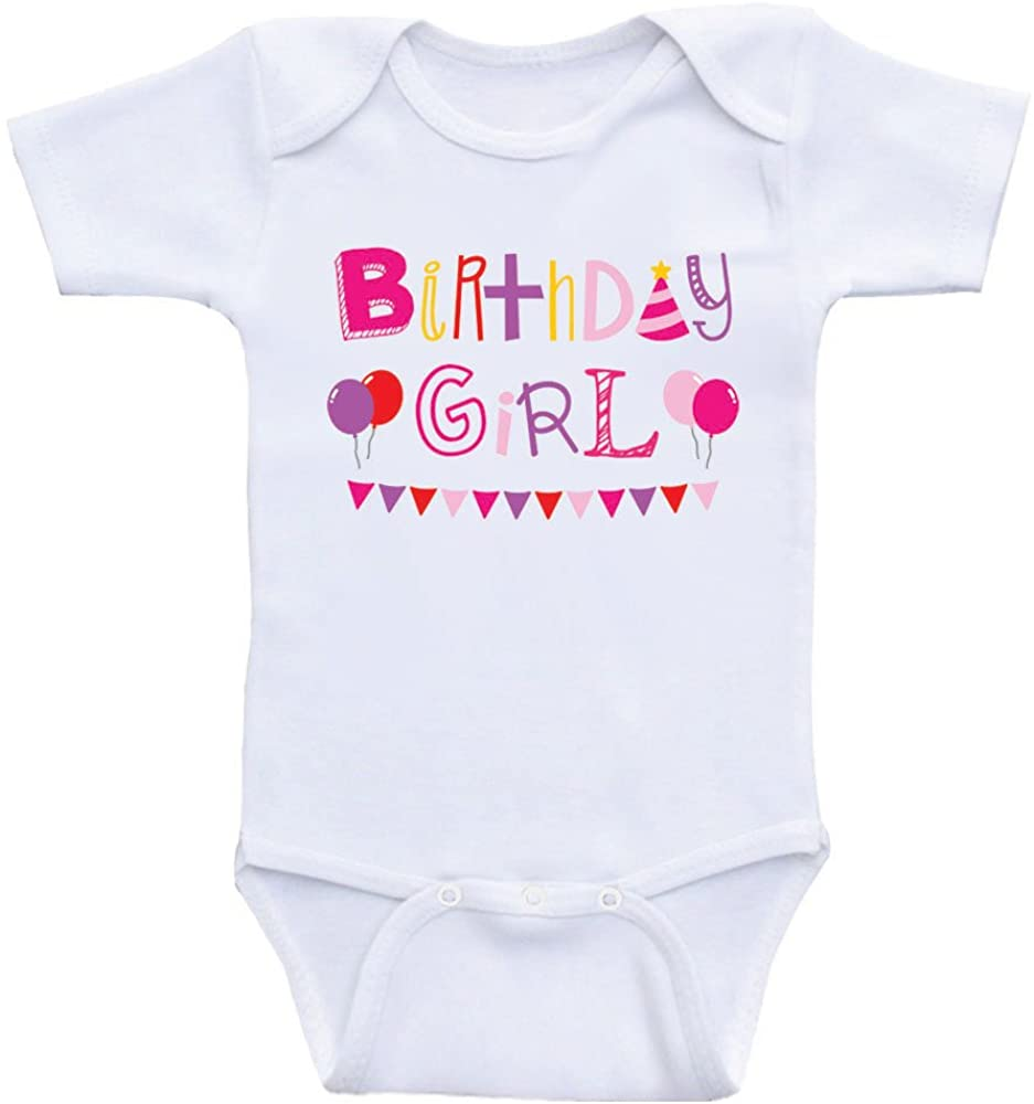Heart Co Designs Bithday Girl Baby Clothes Birthday Girl One-Piece Baby Shirts