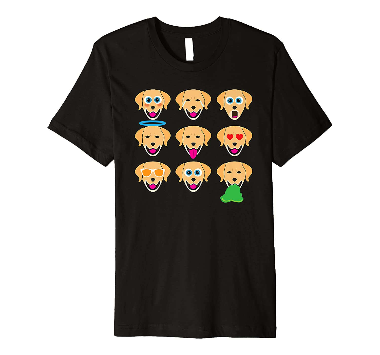 Funny Golden Retriever Emojis Cool Animal Boy Girl Kids Gift Premium T-Shirt
