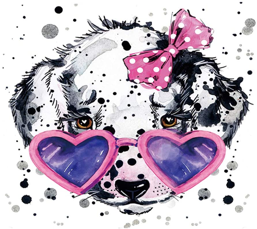 thansky Lovely Colorful Dog Diamond Painting Kits by Number, Full Drill Crystal Rhinestone Paint with Diamonds Embroidery(3)