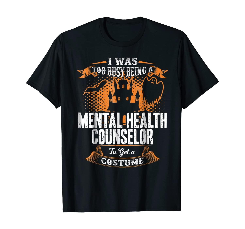 Funny Mental Health Counselor Halloween T-Shirt Gift Idea