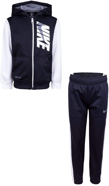 Nike Boy`s Dry Fit Therma Zip Hoodie & Sweatpants 2 Piece Set