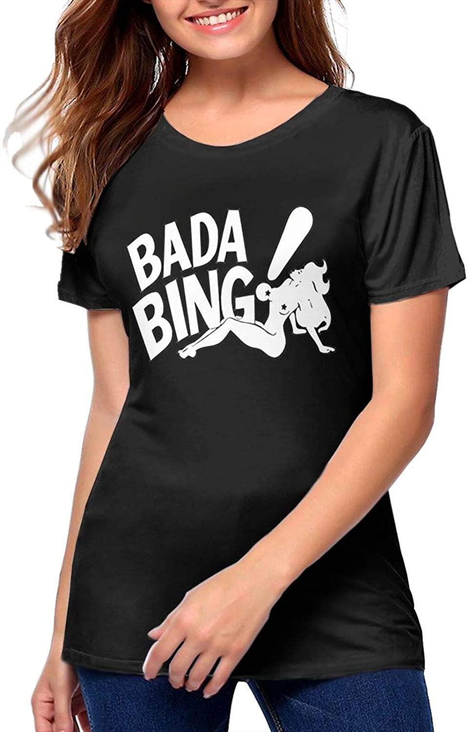 Gesdfwe Bada Bing Strip Club Inspired by The Sopranoswoman'S Breathable Tee