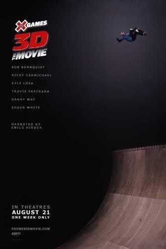 X Games 3D The Movie Movie Poster (27 x 40 Inches - 69cm x 102cm) (2009) -(Shaun White)(Travis Pastrana)(Ricky Carmichael)(Danny Way)(Kyle Loza)(Tony Hawk)