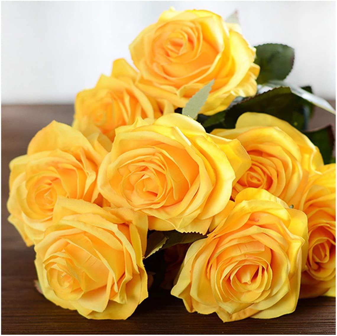 ECYC Rose Floral Bouquet Rayon Fake Flower Flower Arrangement Table Wedding Flowers Decoration Party Accessories