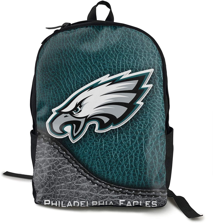 FDLB Unisex Classic Fashion Philadelphia Football Eagle Casual Backpack Travel Backpack Laptop Backpack