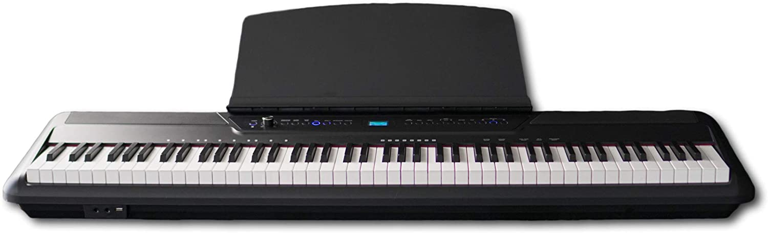 Inovus i88 Digital Piano/Keyboard | 88-Key Fully Weighted Hammer Action Keyboard, Bluetooth, 200 Sounds and Inovus iLearn Interactive Learning Features – With PREMIUM subscription to Piano Academy!