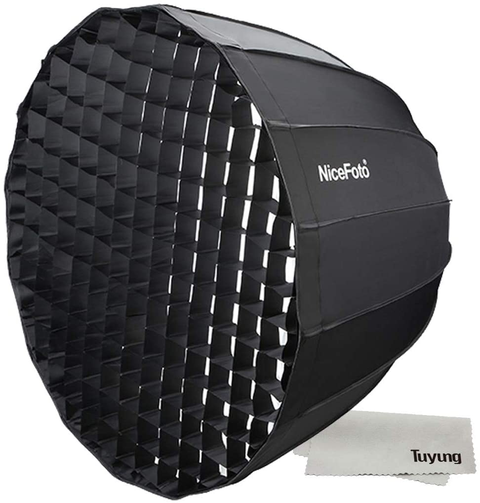 Nicefoto 90cm Umbrella Softbox Photography Studio SoftBox with Grid Carry Bag Diameter 90cm for Photography Bowens LED Flash Light for Portrait Wedding Product Photography