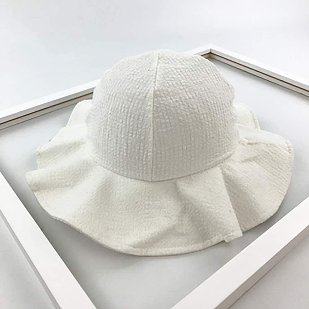 Wide Brim Sun Hat Cotton Kids Bucket Cap Summer Beach Girls Travel Outdoor Cute Casual Sun Hats