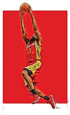 James Harden Poster Print, Basketball Player, James Harden Decor, Real Player, Canvas Art, Artwork, Posters for Wall Size 24 x 32 Inches