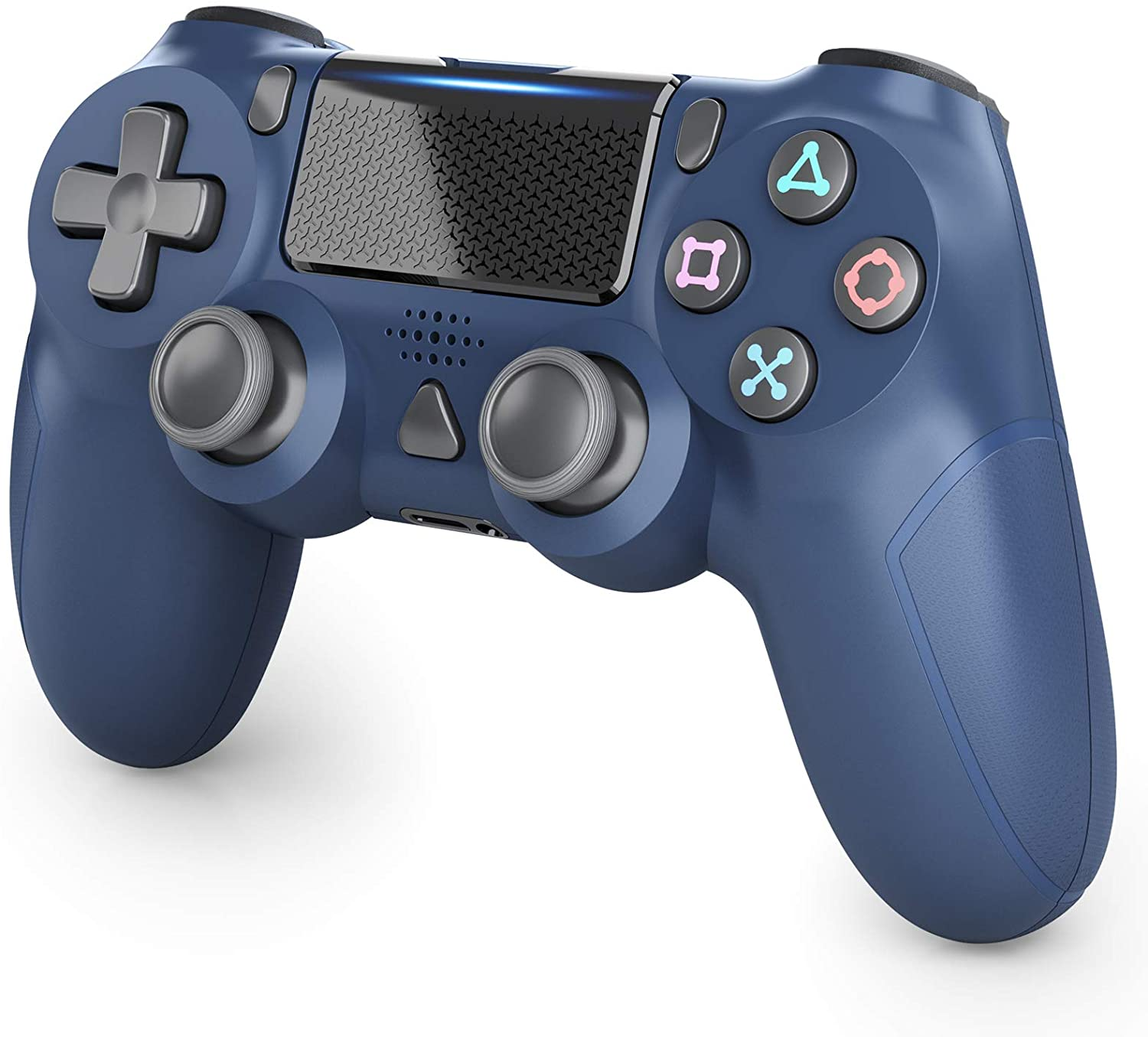Wireless Controller for Playstation 4, Gamepad Controller Remote Joystick for PS4/Pro/Slim Console with Motion Motors, Audio Function, Touch Pad and Dual Vibration (Blue)