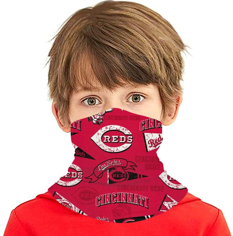 ETONKIDD Teens Youth CIN-CIN-NATI Re-ds Face Mask Face Scarf Headwear Windproof Neck Gaiter