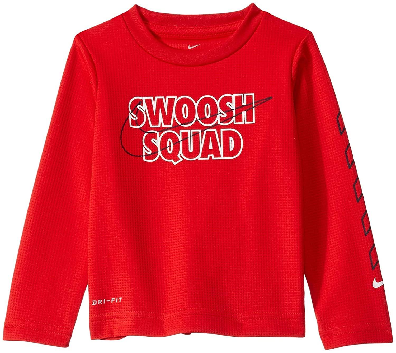 Nike Kids Baby Boy's Dri-FIT Logo Graphic Long Sleeve T-Shirt (Toddler)