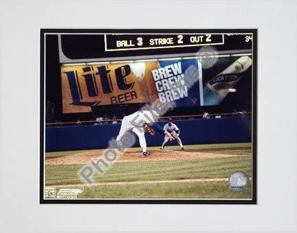 Nolan Ryan, Texas Rangers, 300th Win (Last Pitch), Double Matted 8