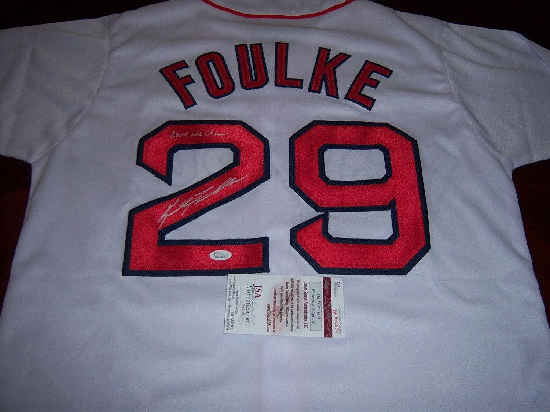 Keith Foulke Boston Redsox 2004 Ws Champs Jsa/coa Signed Jersey - Autographed MLB Jerseys