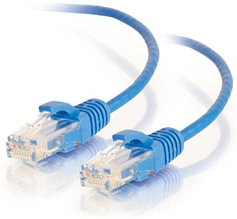 C2G/Cables to Go 01081 Cat6 Snagless Unshielded (UTP) Slim Network Patch Cable, Blue (8 Feet/2.43 Meters)