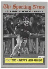 Steve Pearce 2019 Topps Heritage Workd Series Game 4 Boston Red Sox Card #308