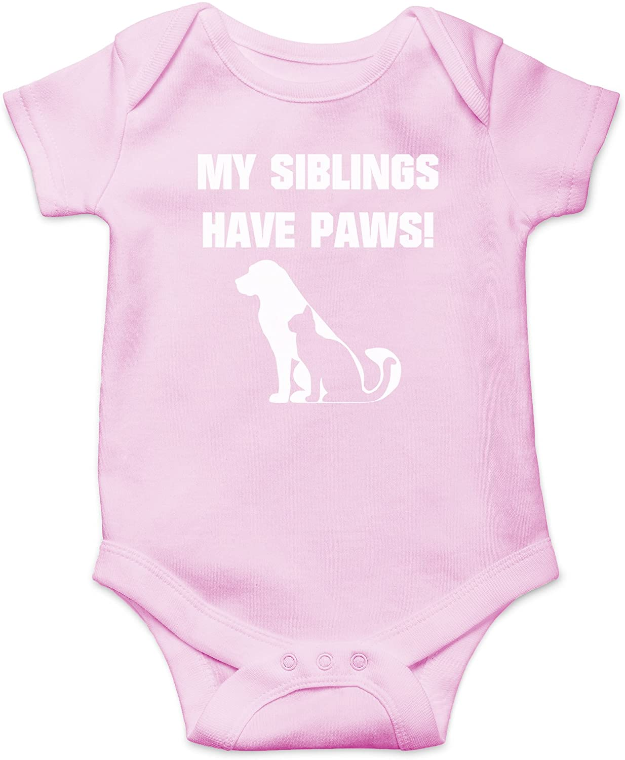 AW Fashions My Siblings Have Paws Cute Novelty Funny Infant One-Piece Baby Bodysuit