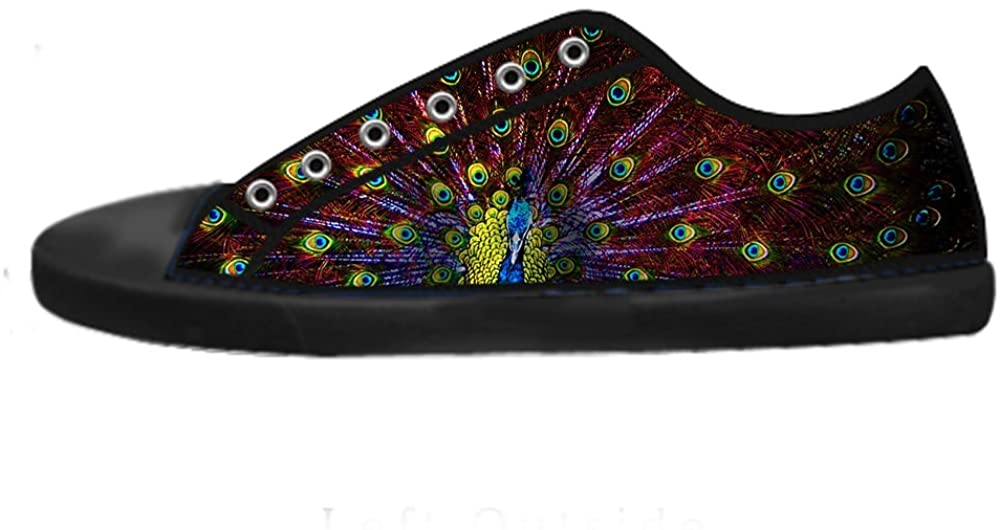 Custom Women's Fashion DIY Image Peacock Feathers New Sneaker Canvas Shoes