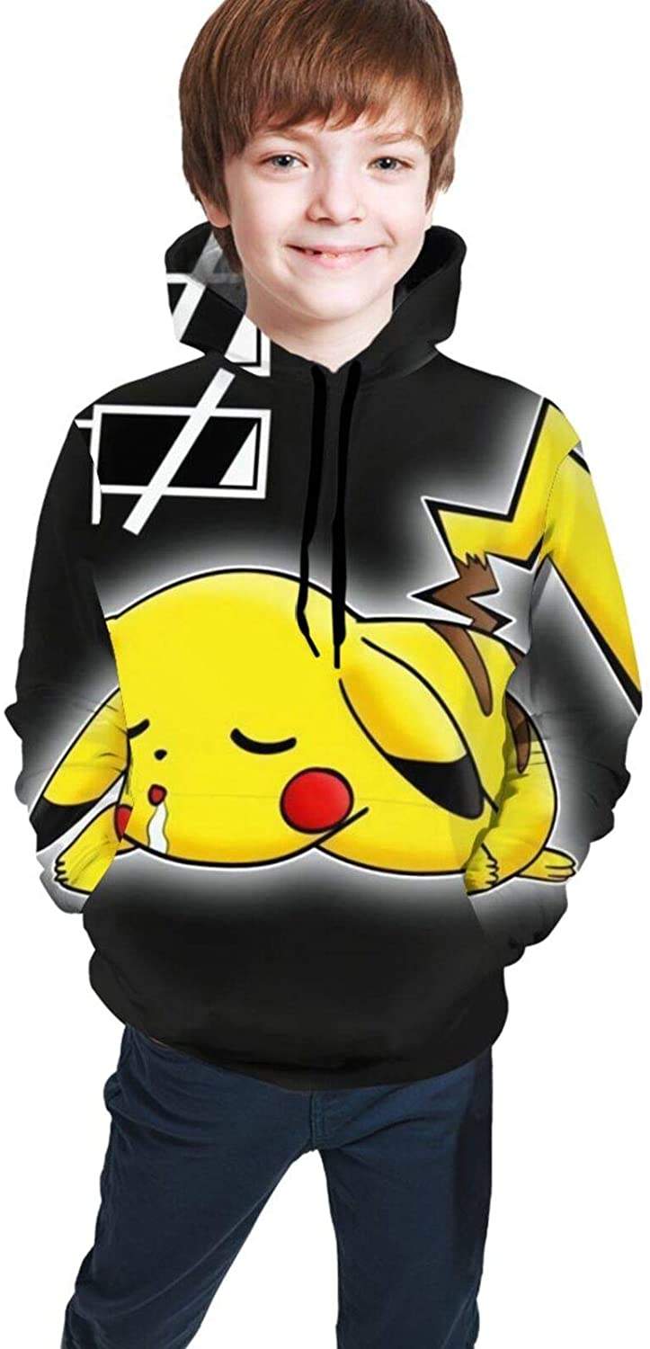 Pika-chu Long Sleeve Teenager Hoodies Sweater Jacket Athletic Sweatshirts Pullover Classic Boys and Girls