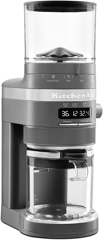 KitchenAid KCG8433DG Burr Coffee Grinder, 10 oz, Charcoal Grey