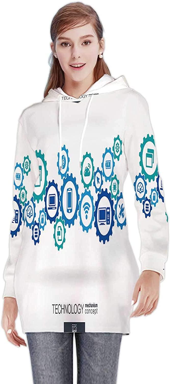 Christmas - Ball - -,Women's Sweatshirt Casual Long Sleeve Pullover Hoodie Dress Christmas S