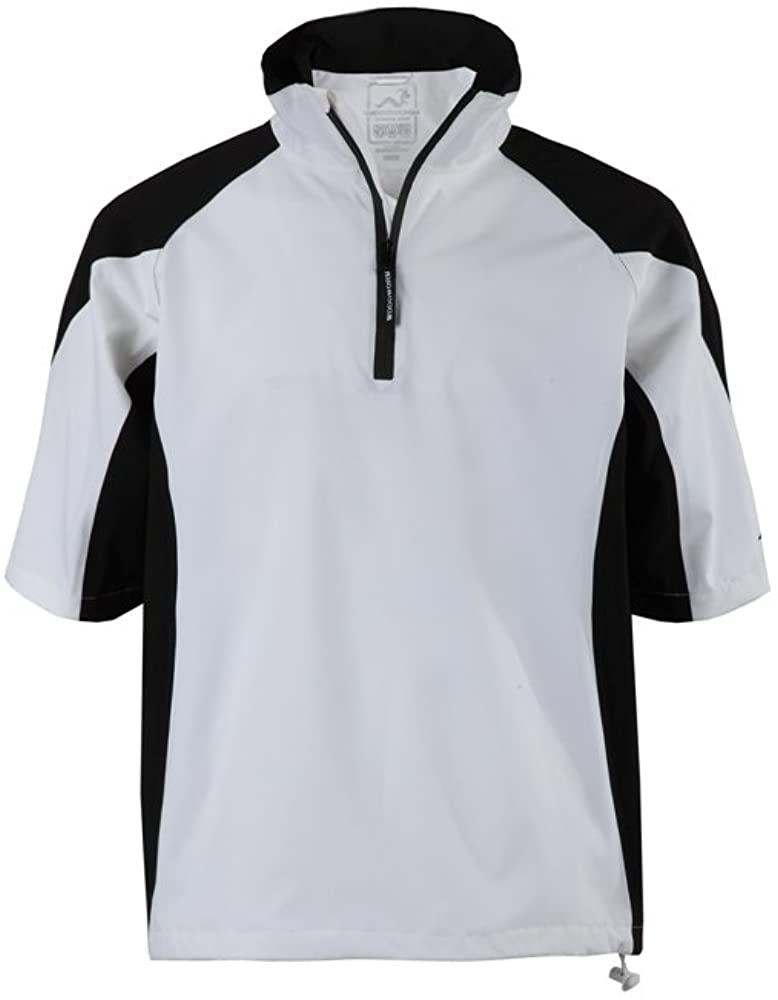 Woodworm Golf Mens Waterproof Rain Jacket Top – Short Sleeve Pullover Wind Top – European Fit