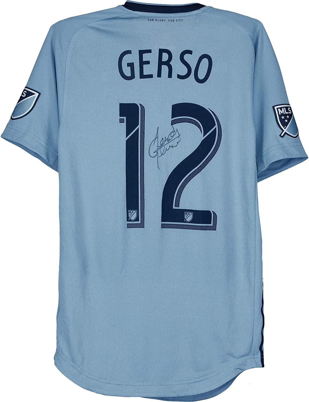 Gerso Fernandes Sporting Kansas City Autographed Match-Used #12 Blue Jersey vs. FC Dallas on October 6, 2019 - Autographed Soccer Jerseys