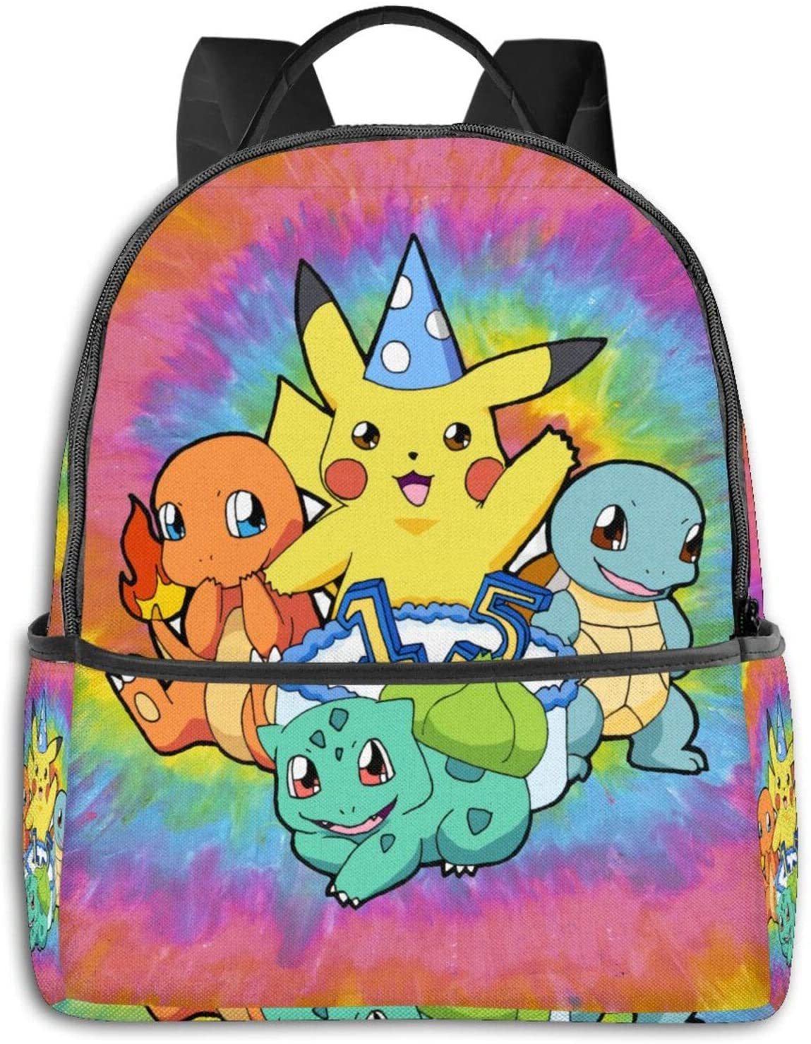 Pikachu Nylon Lining, Breathable Back Panel, Smooth Zipper.Best Gift.