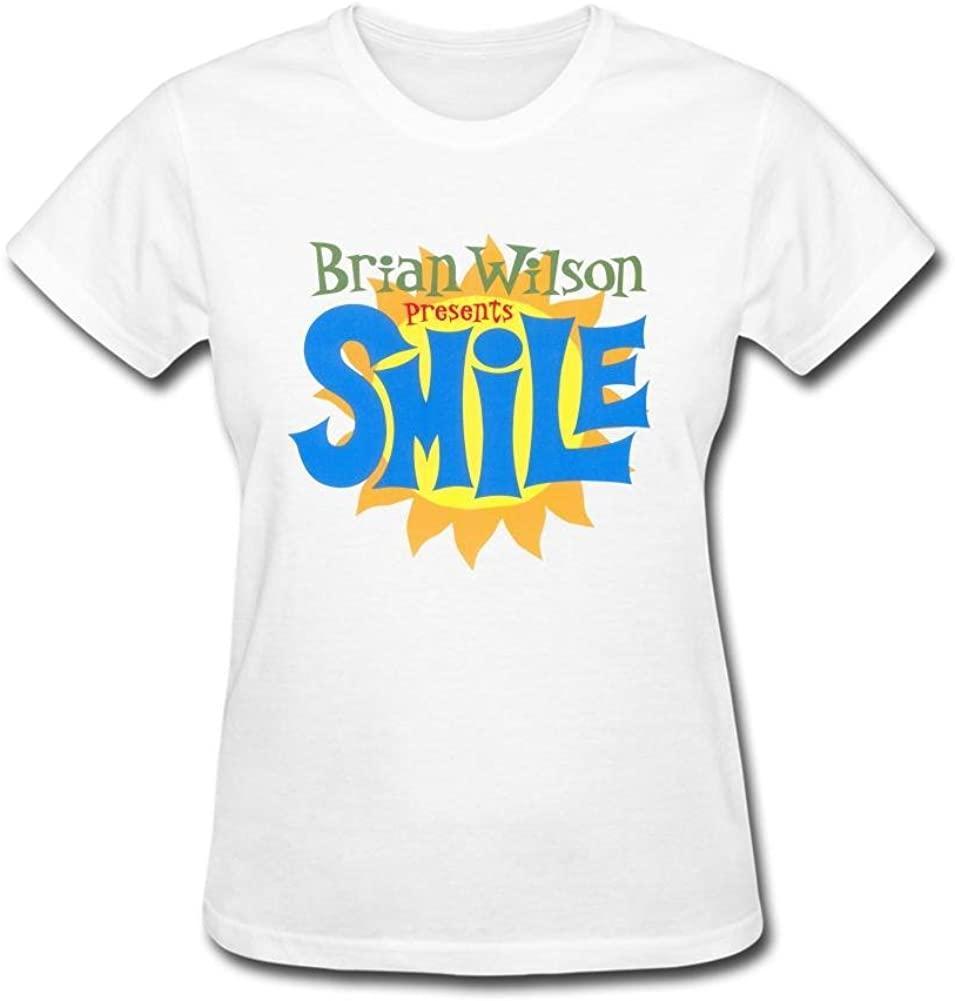SUNRAIN Women's The Beach Boys Brian Wilson Smile T Shirt