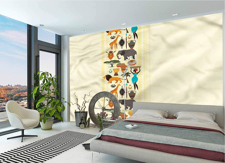 3D Print DIY Wall Murals,Historic Border Peel and Stick PVC Wallpaper for Living Room Bedroom Office Decoration-144x100 Inch