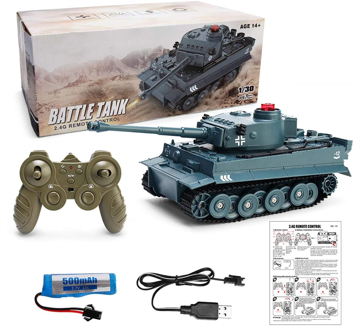 XIAOKEKE MRCOCO Rc Car Remote Control Tank Crawler Charger Remote Control Vehicle Can Launch Fired Guns to Match The Mobile Off-Road Car Children Boy Toys Remote Control Main Battle Tank Toy Gift