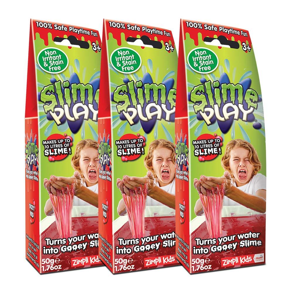 Zimpli Kids 10027 Play Red Bundle X3 Turn Water into gooey Slime, 3 Pack