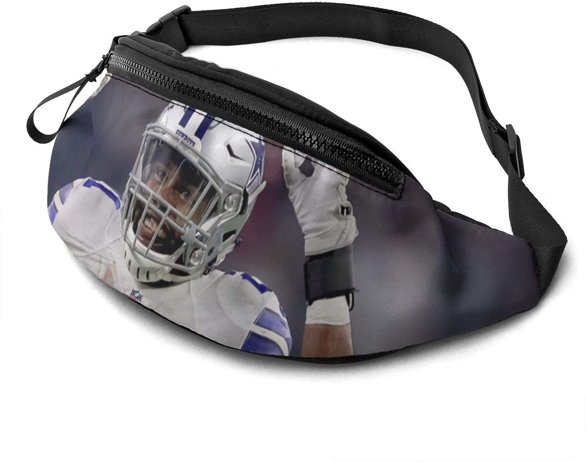 Qwertyi Ezekiel Elliott Casual Waist Bag Fitness Belt Bag Pack Pocket Pouch for Unisex